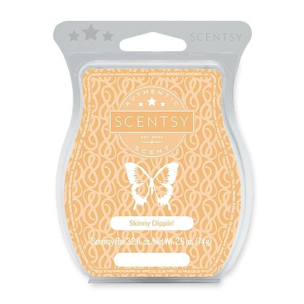 Skinny Dippin' Scentsy Bar Fresh green apples perfectly harmonized with refreshing melons and juicy pears.