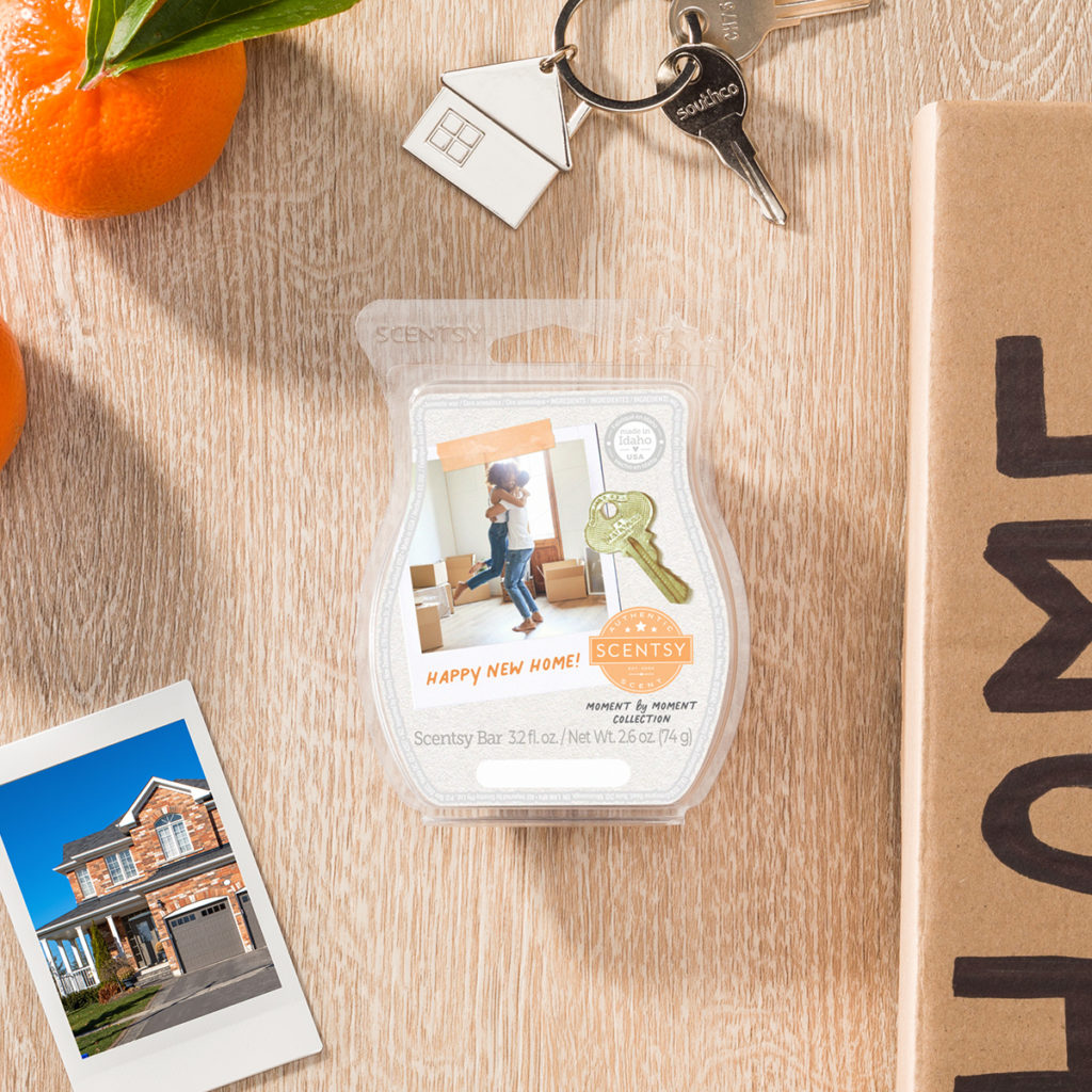 Happy New Home Scentsy Bar: Bright notes of lemon blossom and mandarin settle in beneath a bright blue sky.