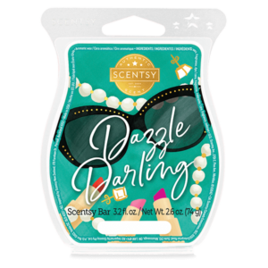 Dazzle Darling Scentsy Bar Salted grapefruit catches some rays beside sparkling coastal water and calming beach sage.