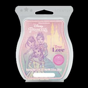 Disney Princess: True Love Awaits Scentsy Bar Enter a kingdom where enchanting ripe raspberry, sparkling mandarin and a kiss of sweet vanilla write the perfect fairy tale ending.