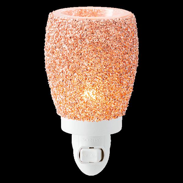 Glitter Rose Gold Mini Scentsy Warmer