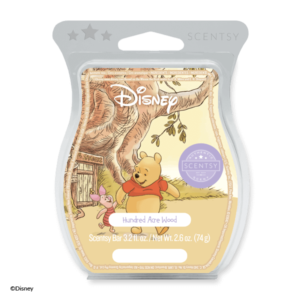 Hundred Acre Wood – Scentsy Bar Grab your favourite hand and wander through a friendly forest swirling with cotton blossoms, wild jasmine and sweet, cozy vanilla.