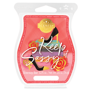 Keep It Sassy Scentsy Bar Playful sparkling lemon brings out the sweet side of cherry blossom and sugar cane.