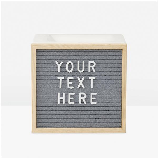 Letterboard Scentsy Warmer