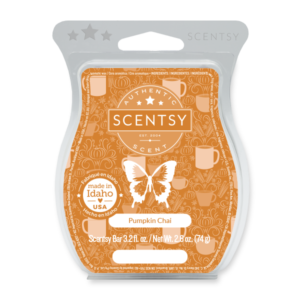 Pumpkin Chai Scentsy Bar Fill your cup with white pumpkin, a swirl of cinnamon and a dash of chai.